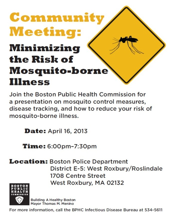Community Meeting - Mosquito Control
